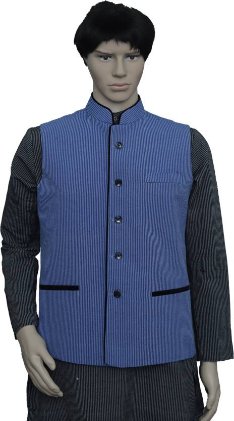 7b711c4d7fef PUNEKAR COTTON KHADI Sleeveless Solid Men s Jacket - Buy PUNEKAR COTTON  KHADI Sleeveless Solid Men s Jacket Online at Best Prices in India