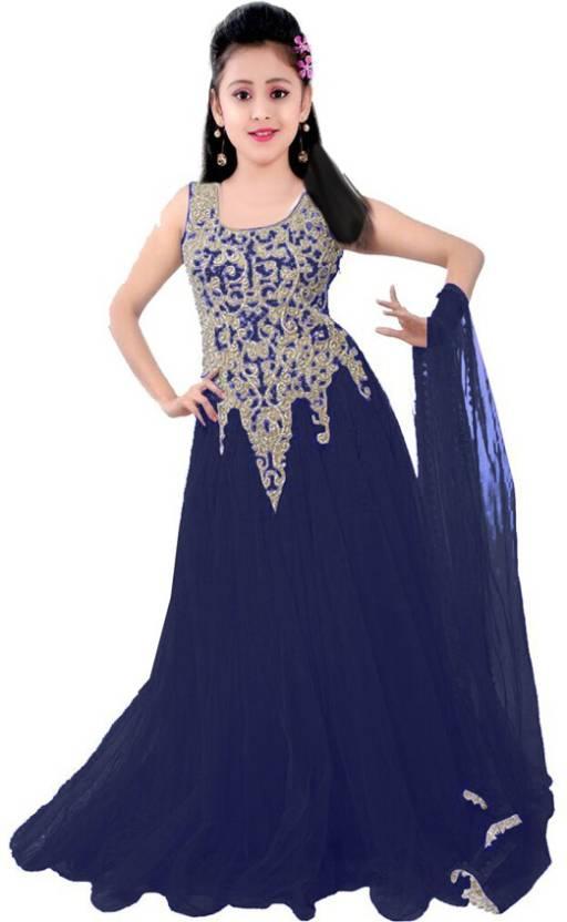 2070cb81cd1 MF Retail Girls Maxi Full Length Casual Dress (Light Blue