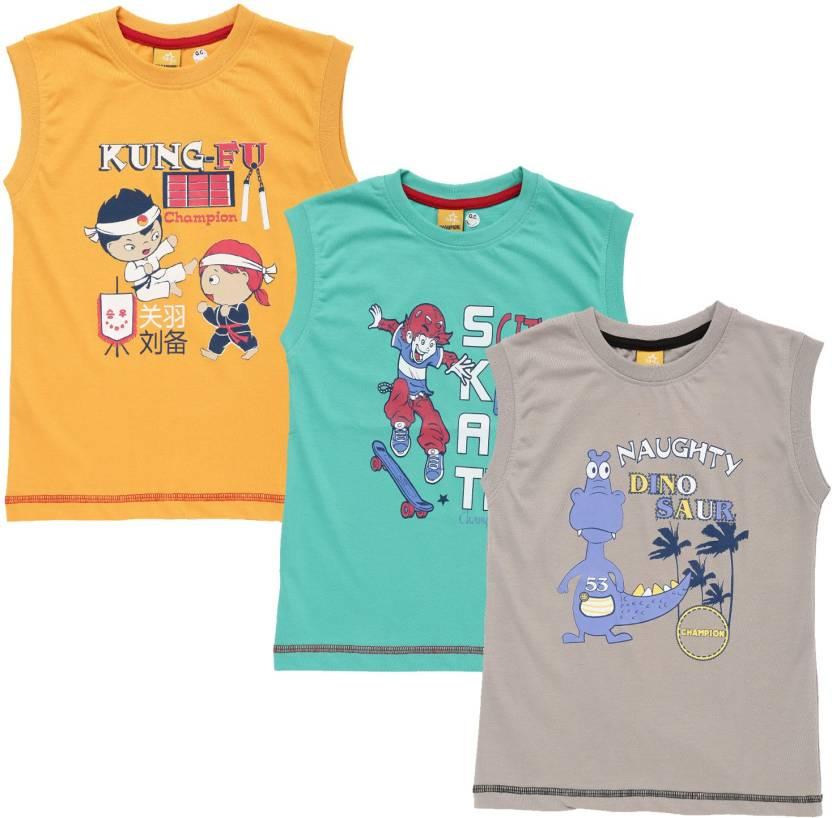 4eead544b54 Dollar Champion Kidswear Boys Printed Polyester Cotton Blend T Shirt ...
