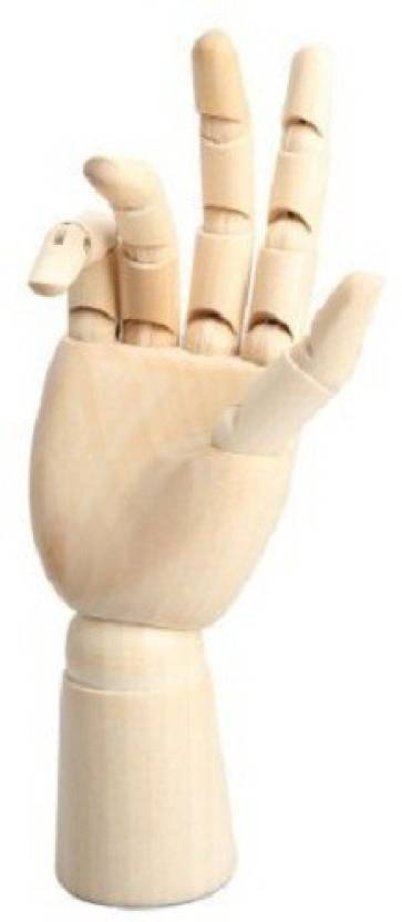 Bianyo Wood Art Mannequin Hand Model - Perfect for Drawing, Sketch, etc.(