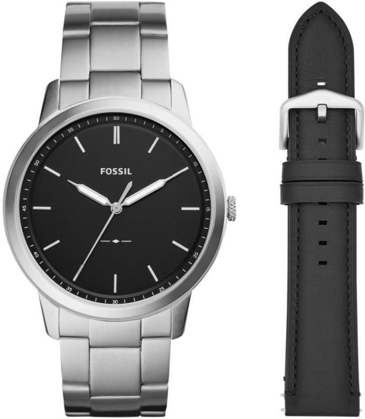 Fossil Fs5451set The Minimalist 3h Watch For Men Buy Fossil