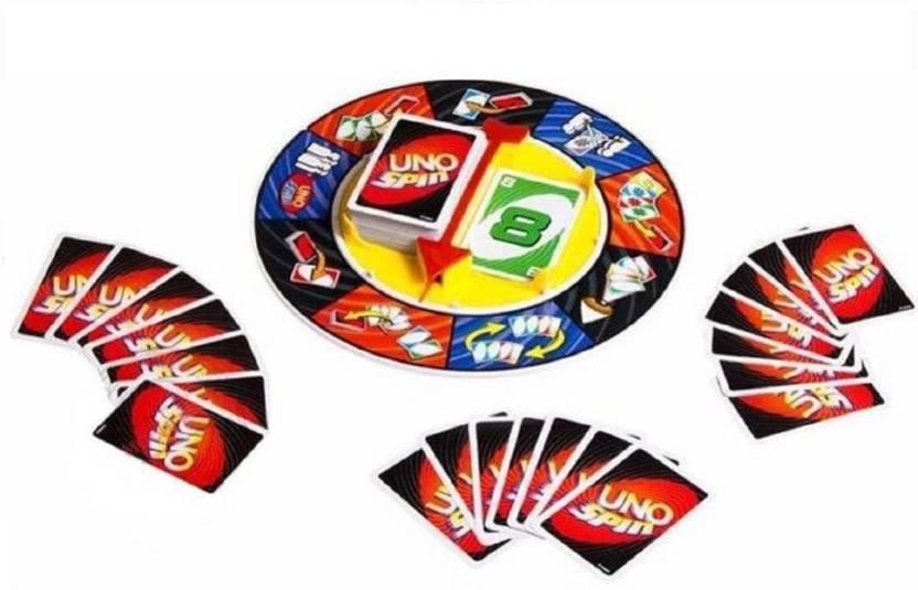 Vortex Toys UNO Spin Wheel Card Family Board Game - UNO Spin Wheel