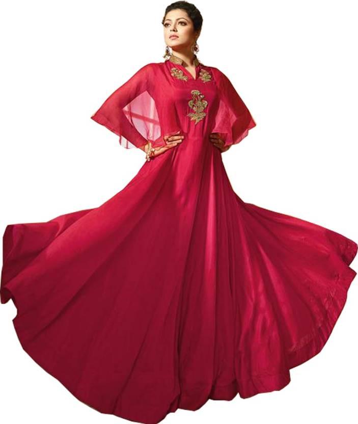 2829f0150c Julee Women Gown Pink Dress - Buy Julee Women Gown Pink Dress Online at  Best Prices in India   Flipkart.com