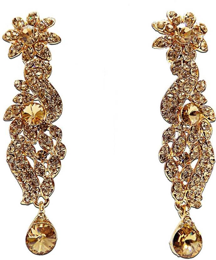 Sparkle Crystal Copper Dangle Earring