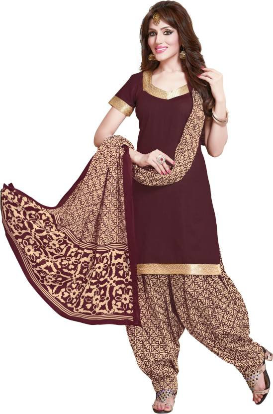 Reya Crepe Floral Print Salwar Suit Dupatta Material Unstitched
