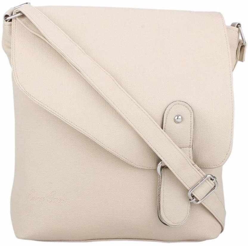 b6c1bd0375 Buy medfire Sling Bag Cream Online   Best Price in India