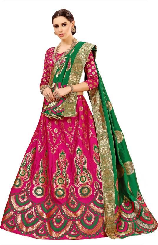 bade2d401cd Chhabra 555 Embellished Semi Stitched Lehenga Choli - Buy Chhabra ...