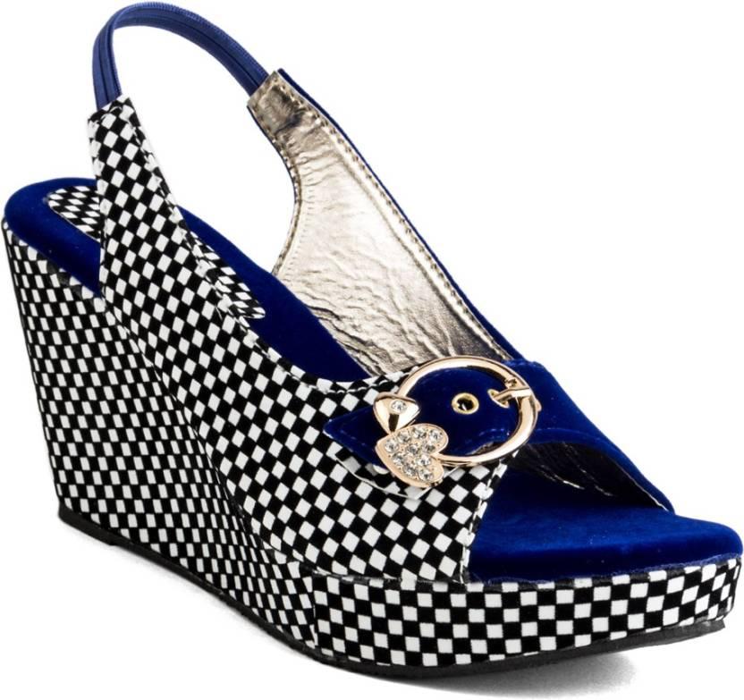 0b9d0b36f Cute Fashion Women Blue Wedges - Buy Cute Fashion Women Blue Wedges Online  at Best Price - Shop Online for Footwears in India