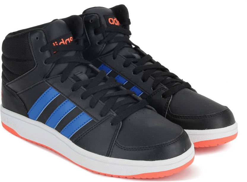 more photos c3dd7 8f8b7 ADIDAS NEO HOOPS VS MID Mid Ankle Sneakers For Men (Black)