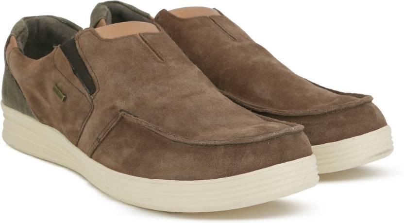 e8e8c5ee07 Woodland Slip on Sneakers For Men - Buy BROWN Color Woodland Slip on ...
