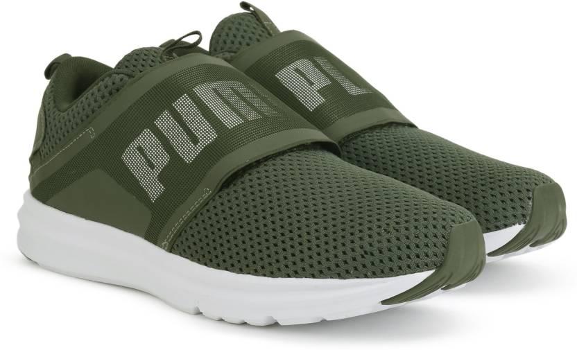 df2fcdf2dbf Puma Enzo Strap Mesh Running Shoes For Men - Buy Forest Night-Puma ...