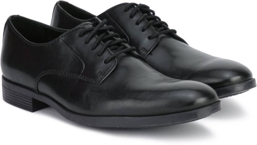 a523c159d705d Clarks Conwell Plain Formal Shoes For Men - Buy Black Leather Color ...