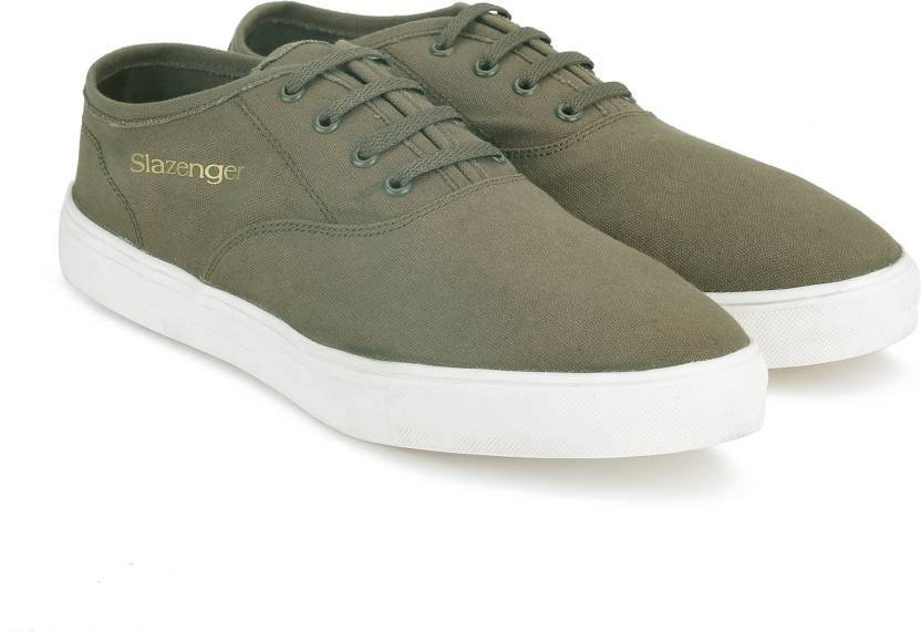 5603cd8ccfdfbc Slazenger CLASSIC OX Canvas Shoes For Men - Buy KHAKI Color ...