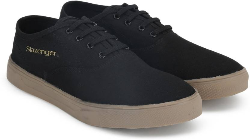 f5af43f87f2 Slazenger CLASSIC OX Canvas Shoes For Men - Buy BLACK Color ...