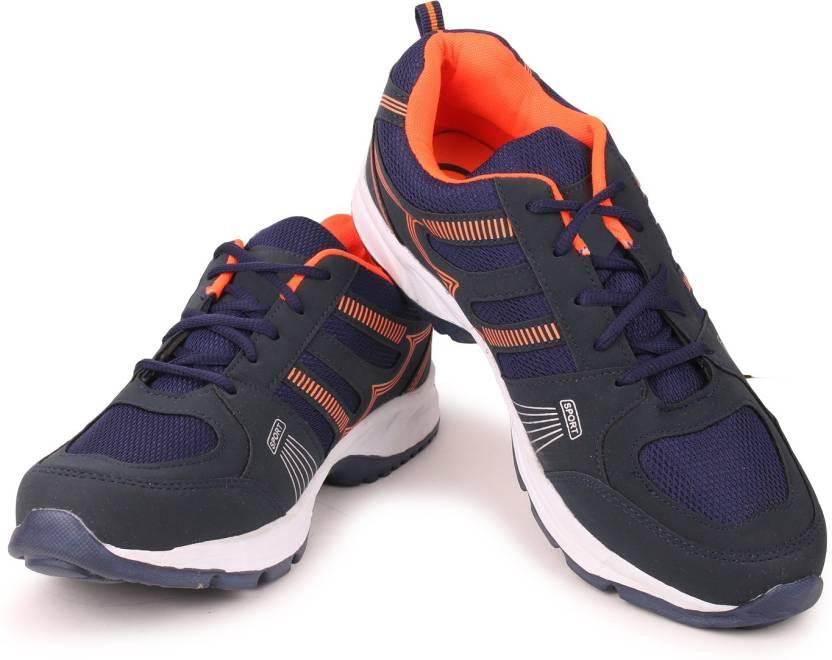 low priced 5ce46 c5531 Extavo Big-size-ph-29-orange Running Shoes For Men (Blue, Black, Orange)