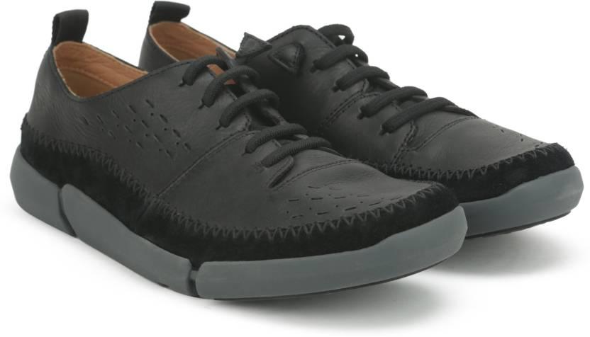 7f0dd8fa Clarks Trifri Slip Sneakers For Men - Buy Black Leather Color Clarks ...