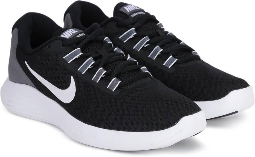 Nike LUNARCONVERGE Running Shoes For Men - Buy BLACK WHITE-DARK GREY ... 654759787