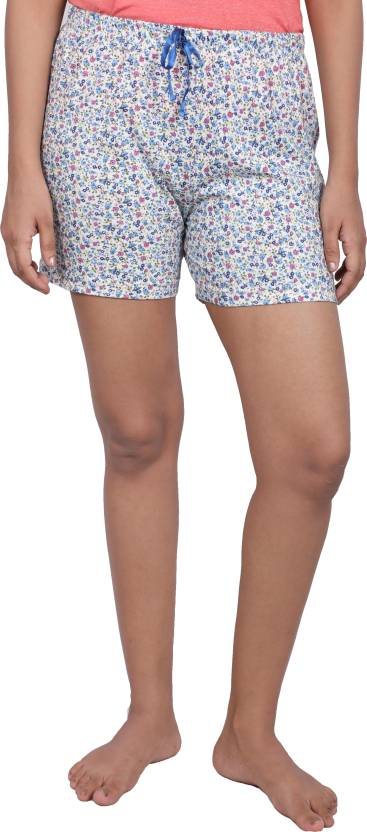 6e6489e9b4 Shyla byFBB Floral Print Women Blue Night Shorts - Buy Shyla byFBB Floral  Print Women Blue Night Shorts Online at Best Prices in India