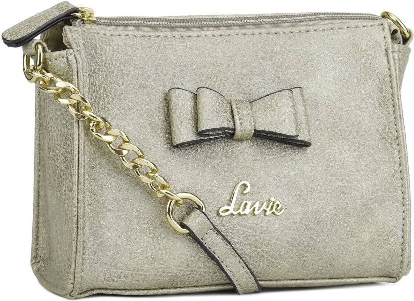 fc5c17491 Lavie Women Gold Leatherette Sling Bag GOLD - Price in India ...