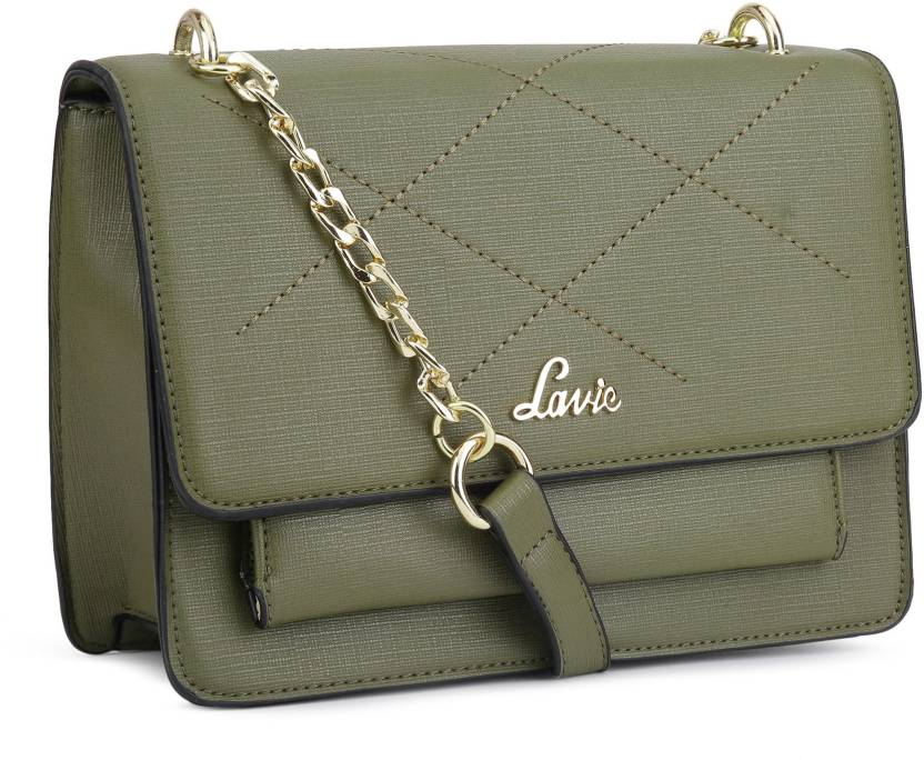e7d552139 Lavie Women Casual Green Leatherette Sling Bag OLIVE - Price in India