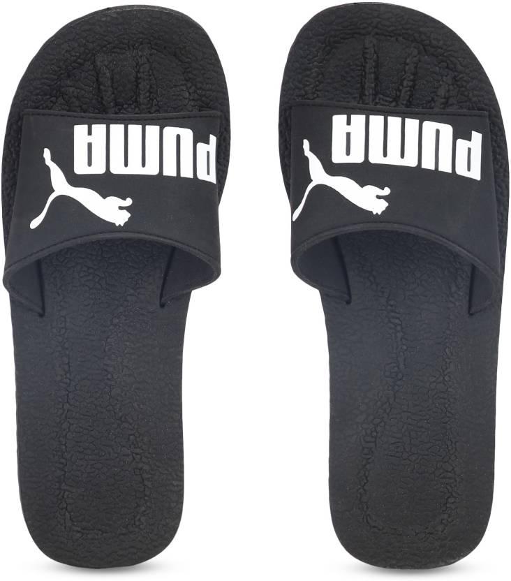 3d89ddf7c67 Puma Purecat Slides - Buy Black-White Color Puma Purecat Slides Online at Best  Price - Shop Online for Footwears in India
