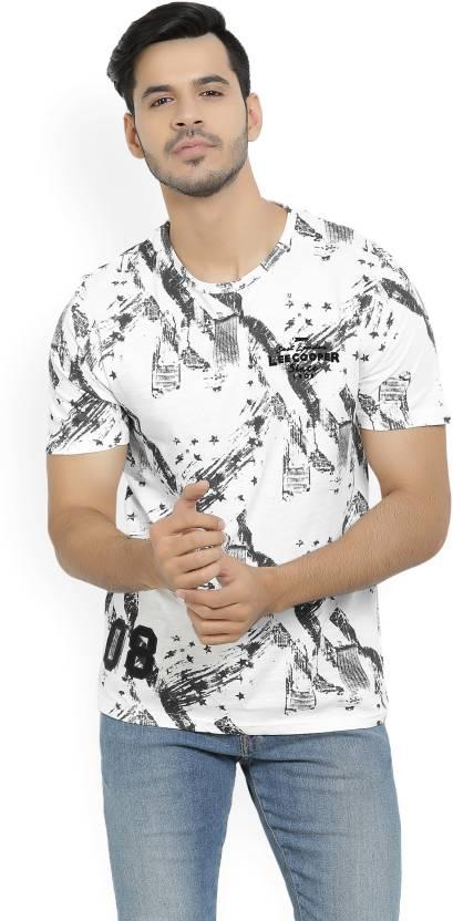 1c0d15b3 Lee Cooper Printed Men's Round Neck Black, White T-Shirt - Buy OFF WHITE Lee  Cooper Printed Men's Round Neck Black, White T-Shirt Online at Best Prices  in ...