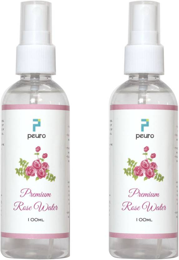 Peuro Rose Water Toner Spray For Face And Skin Natural Rose Water