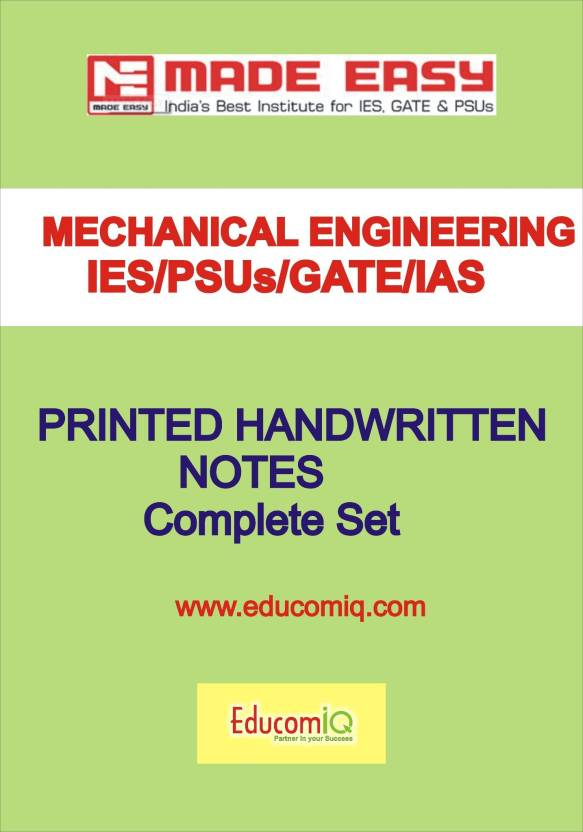 Mechanical Engineering Class Notes-[IES] [GATE] [PSU] -Made