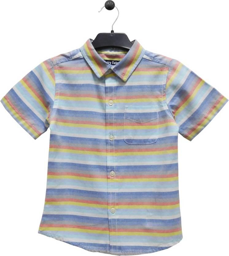 ecb284d57d36e8 Terry Fator Boy s Striped Casual Multicolor Shirt - Buy Terry Fator Boy s  Striped Casual Multicolor Shirt Online at Best Prices in India