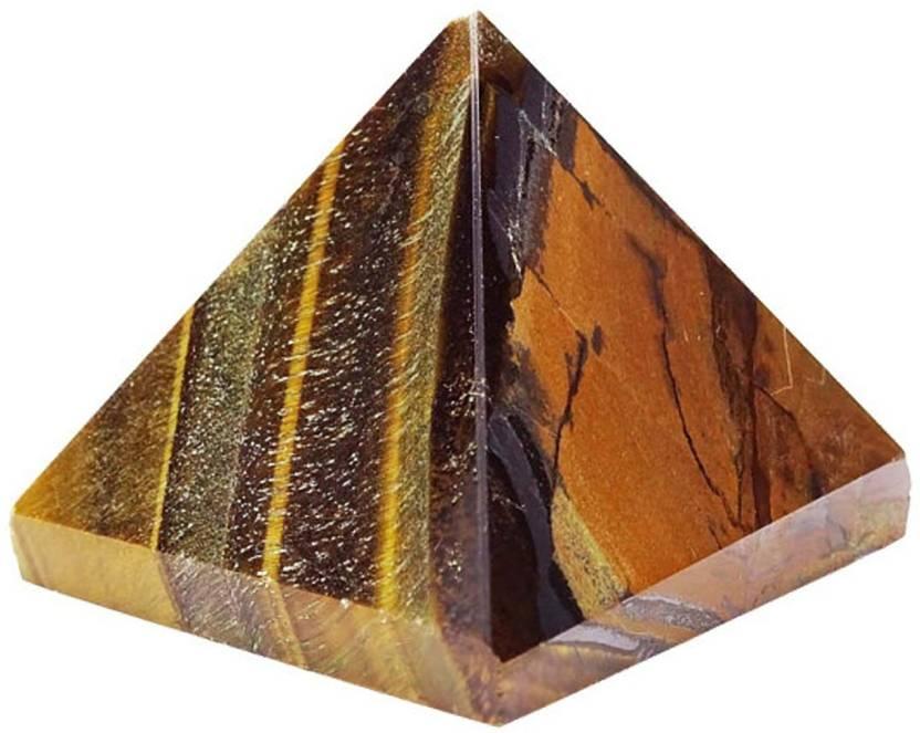 Stargems Tiger Eye Stone Pyramid, Spiritual Reiki Healing Crystal