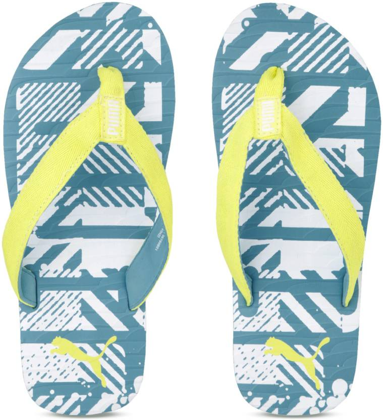 607568fdf47c Puma Mykonos Graphic IDP Hawaiian Ocean-Fizzy Flip Flops - Buy Blue Color Puma  Mykonos Graphic IDP Hawaiian Ocean-Fizzy Flip Flops Online at Best Price ...