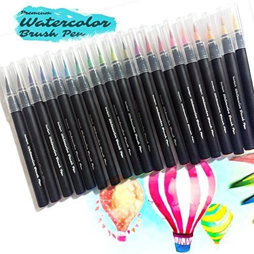 Sakura Koi Dye-Based Non-Toxic Coloring Brush Marker Flexible Nylon Tip Gray,