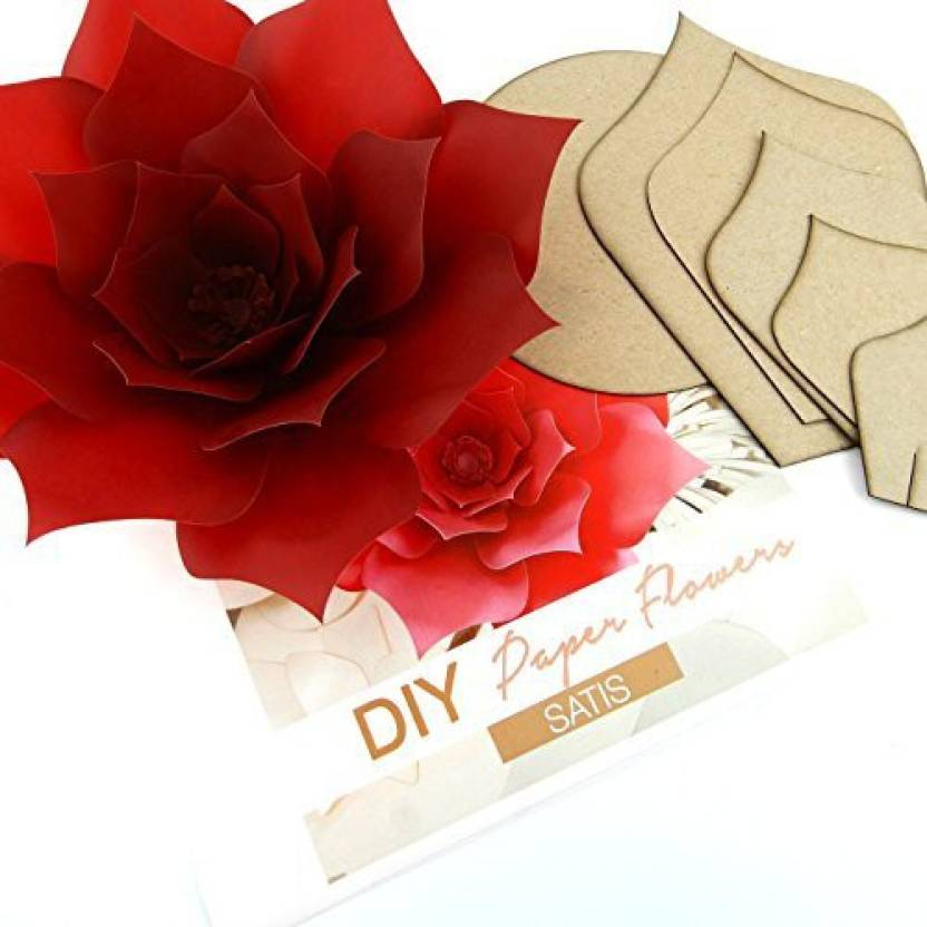 Generic Paper Flower Template Kit Pattern Diy Craft Giant Paper
