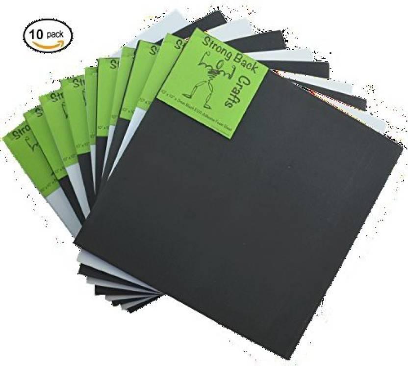 Generic 5 Black & 5 White-(10 PACK)-6mm thick Self-stick Adhesive