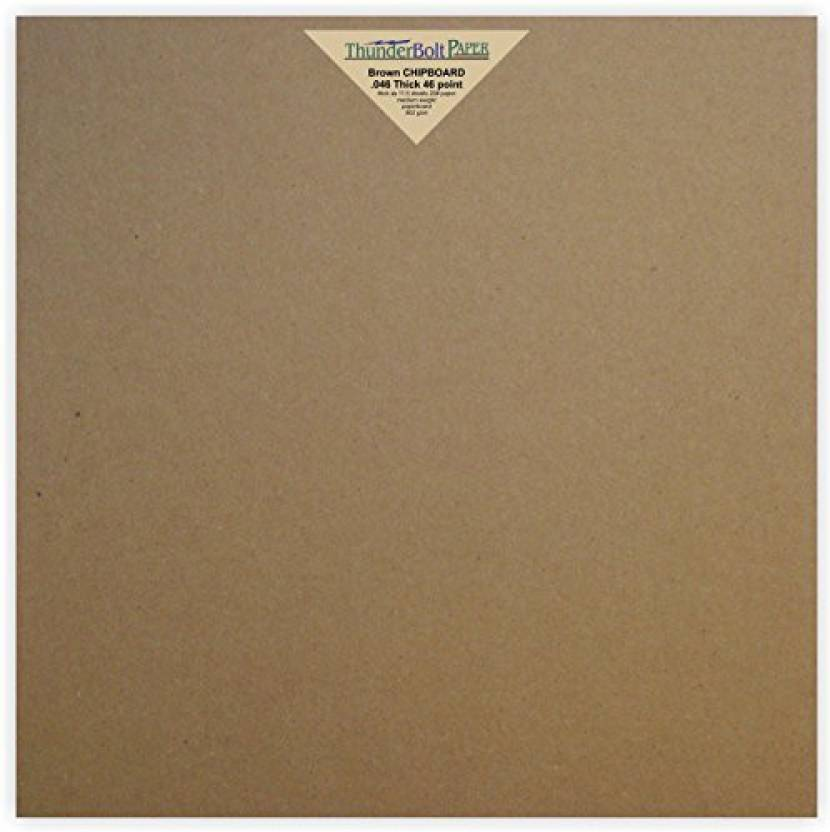 Generic 25 Sheets Chipboard 46pt Point 12 X 12 Inches Heavy Weight
