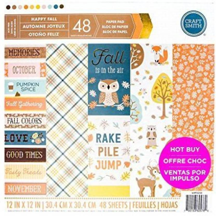 Craft Smith Paper Pad Happy Fall - Paper Pad Happy Fall