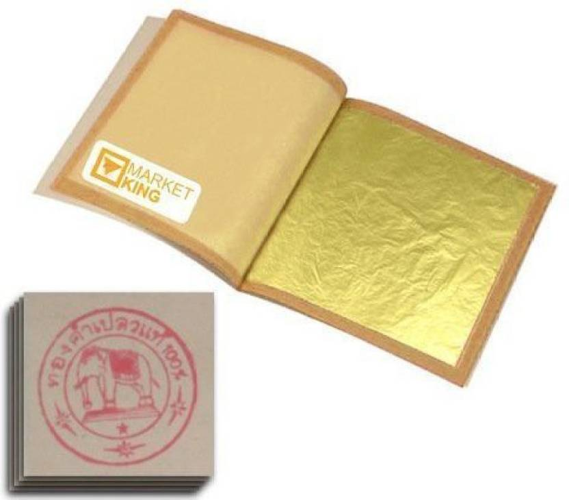 2972867ab Generic GOLD Leaf 20 Sheets Edible 24k 999/1000 Gilding - GOLD Leaf 20  Sheets Edible 24k 999/1000 Gilding . shop for Generic products in India.