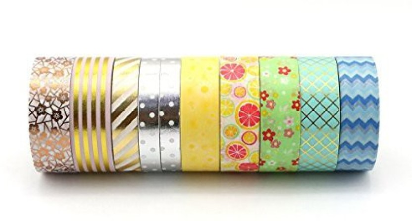 10 Rolls Washi Tape Decorative Scrapbooking Paper Adhesive Sticker Craft Popular