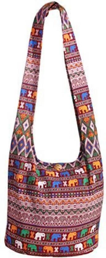 9ecab3456bd0 Tonka Cotton Tonka Nordic Elephant Boho Crossbody Bags Shoulder Bags  Messenger Bags Hobo Hippie Bag Purse Christmas Gifts (Red Wine) - Tonka  Nordic Elephant ...