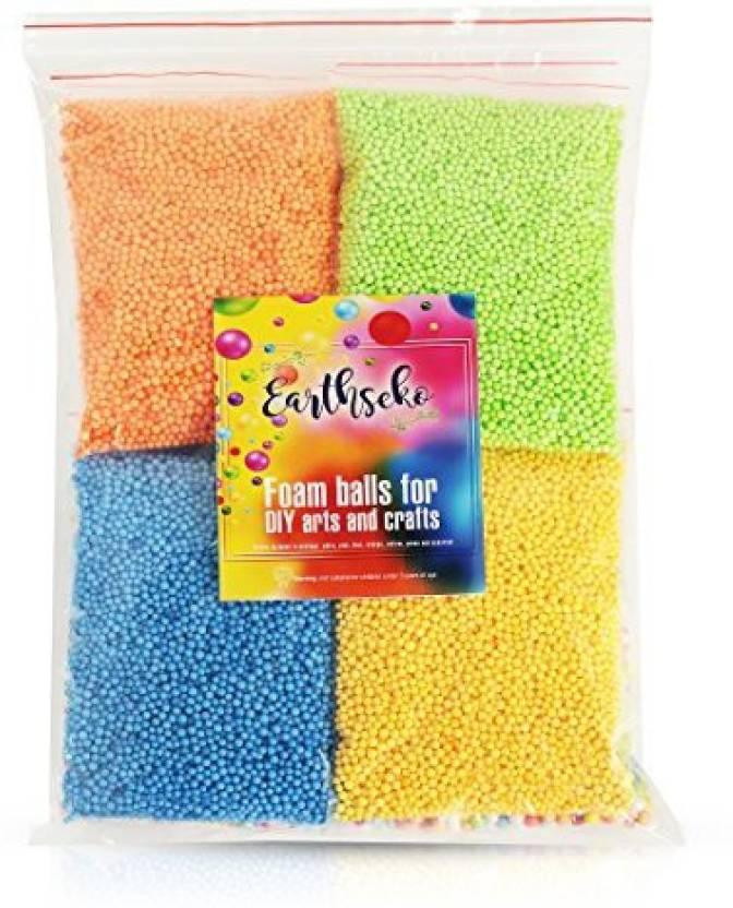 Earthseko Diy Foam Balls For Slime Arts And Crafts 8 Pack