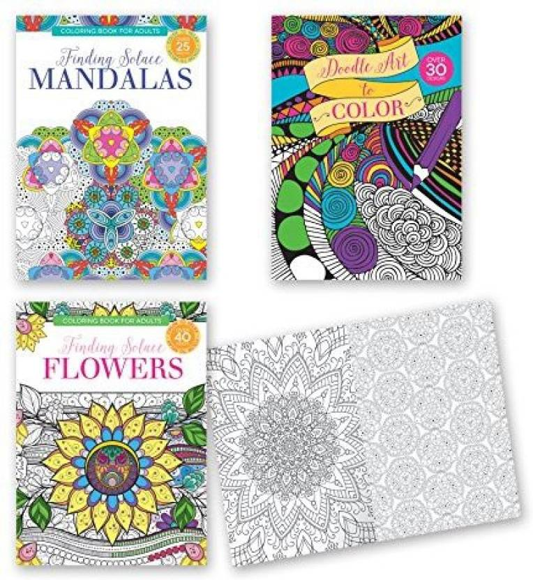 B There Adult Coloring Books - Set Of 3 Coloring Books, Many ...