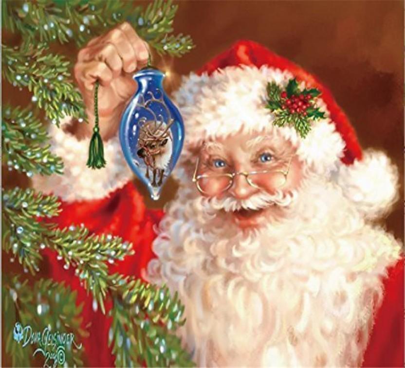 DIY Crystals Diamond Rhinestone Painting Pasted Paint by Num Santa Claus YEESAM ART New 5D Diamond Painting Kit