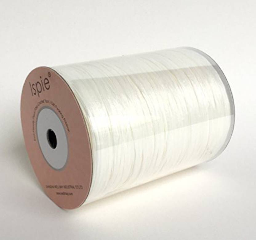 Generic Ispie Rayon Raffia Ribbon Crochet Yarn 1 4 100 Yard Off White For