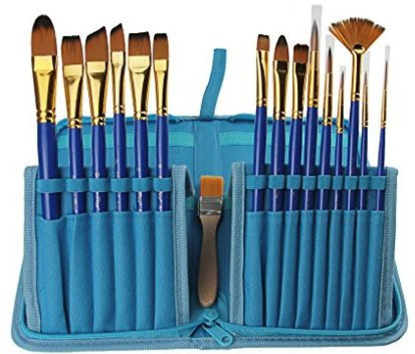 30 PIECE Paint Brush Set Acrylic Oil Artist Watercolor Painting Brushes Supplies