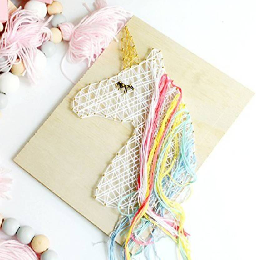 Luck Collection Unicorn String Art For Wall Decoration Kids Bedroom