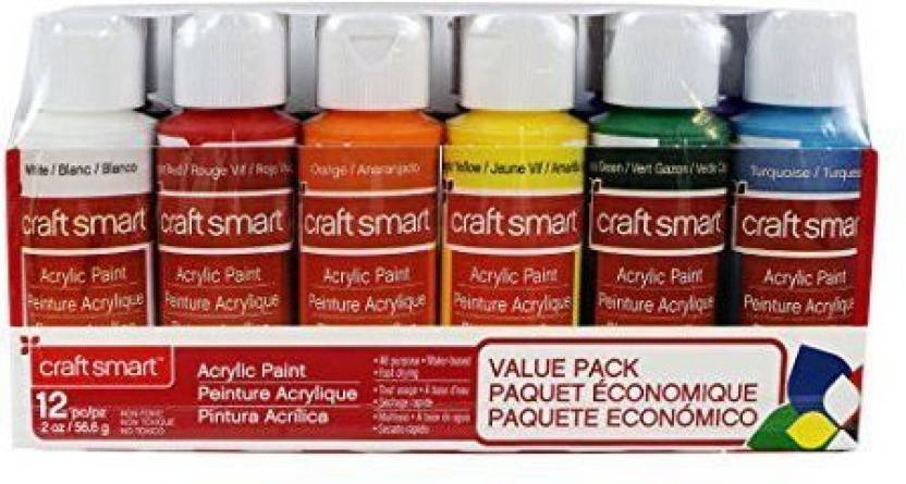 Craftsmart Acrylic Paint Value Pack By Craft Smart For Products In India Flipkart