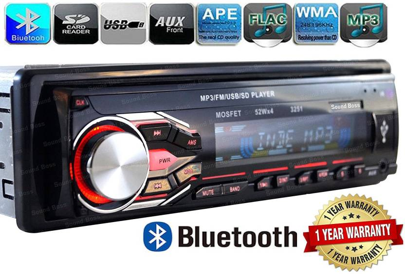 bbdd9f3bb6e Sound Boss XBT-3251 DETACHABLE Bluetooth Wireless With Phone Caller Id  Receiver Car Stereo (Single Din)