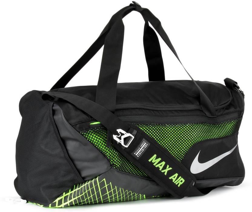 4bc1c257c0 Nike NK VPR MAX AI Travel Duffel Bag BLACK VOLT METALLIC SILVER ...
