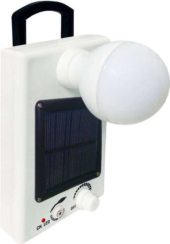 Go 12 Led Solar Bulb With Charge Rechargeable Emergency Light White