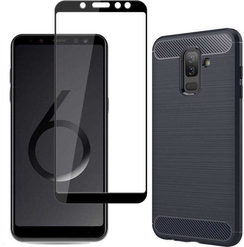 various colors 4b662 50509 Mowear Back Cover for Samsung Galaxy A6 Plus Back Cover with Tempered Glass